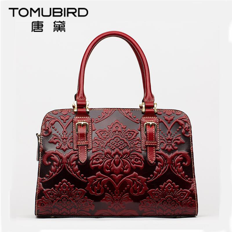 Famous brand top quality Cow Leather women bag   2016 new China style embossed shoulder messenger bag Retro handbag Boston bag белых виктория алексеевна внимание память сенсорика мышление