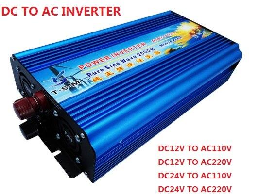 Off grid digital display spitzenleistung 4000 watt inverter nennleistung 2000 watt dc zu ac reine sinus-wechselrichter
