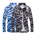 2016 Man Casual Camouflage shirt Men Army Tactical Combat casual Shirt Military Print Camo Camp Slim Fit Clothing Mens Shirts