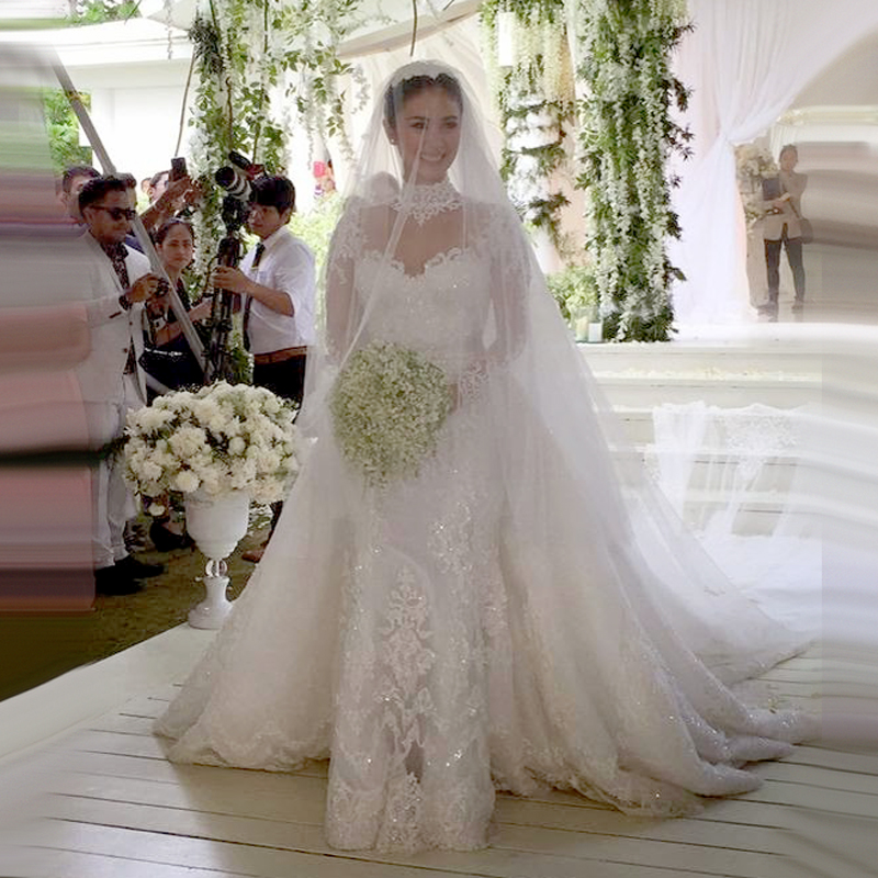 Bridal Dress With Detachable Train: Aliexpress.com : Buy W229 Detachable Train Wedding Dresses