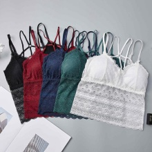Sexy Female Padded Lace Bra Top 2019 Strappy Basic Underwear Embroidery Translucent Push Up Bras for Women BH Lingeries Bralette sweet lace rib elastic push up bras for women japanese style padded wire free 8 colours comfy everyday bh bra lingeries 2019 new
