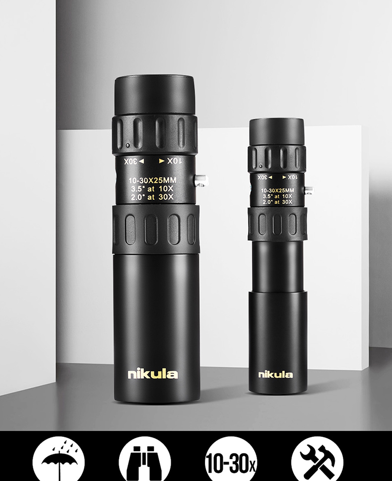 Nikula 10-30x25 Zoom Monocular High Quality Telescope