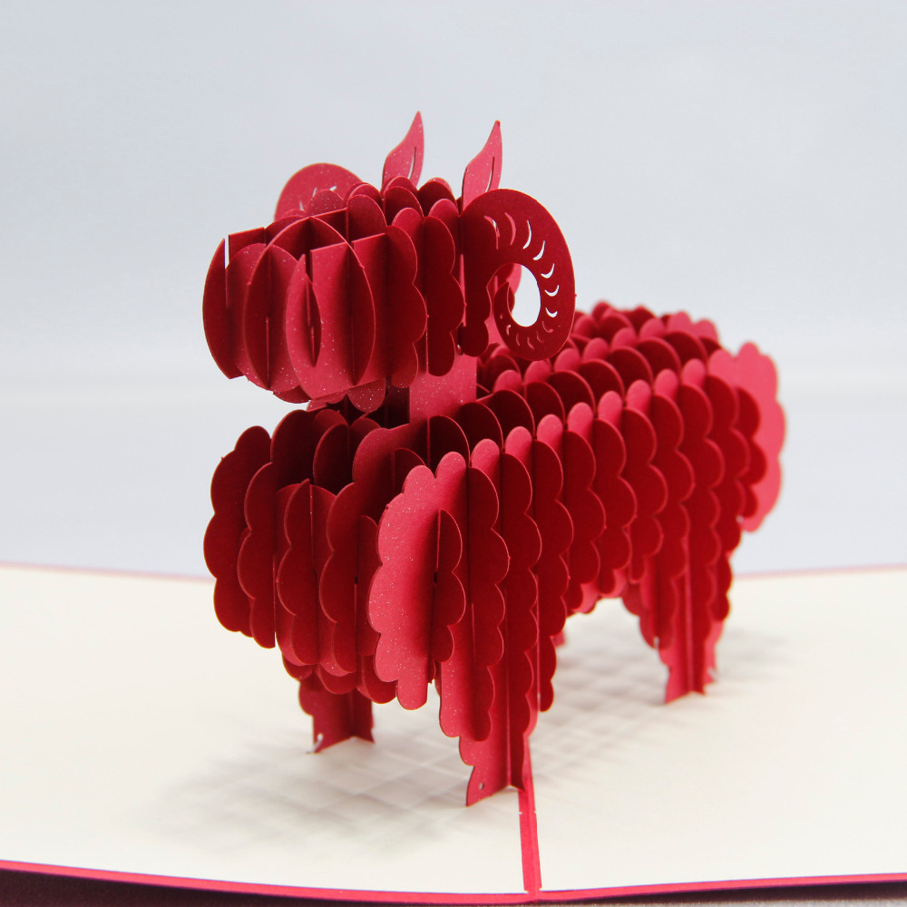 3d Cute Sheep Chinese Zodiac The Year Of Goat Happy New Year