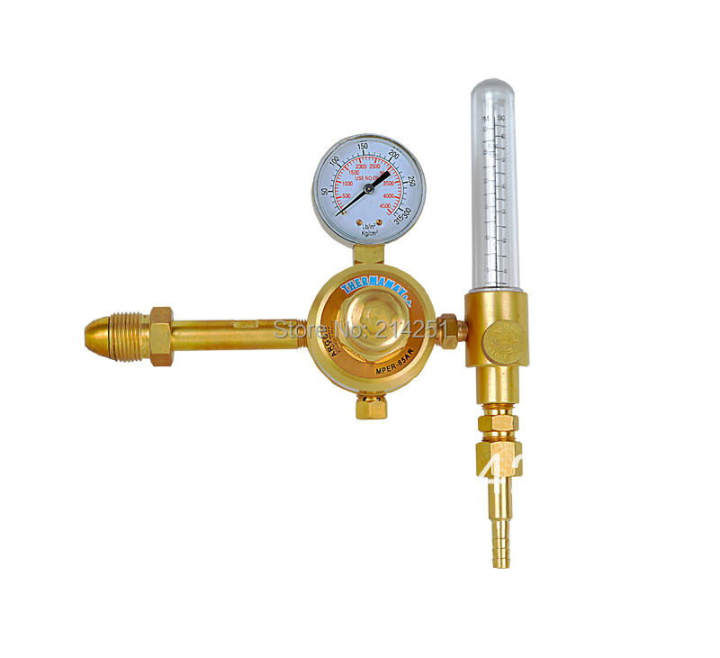 NON HEATED GUAGE GAS REGULATOR THIS ARGON GAS/CO2/Mixed gas AR+co2 argon regulator yar 195 copper outer thread