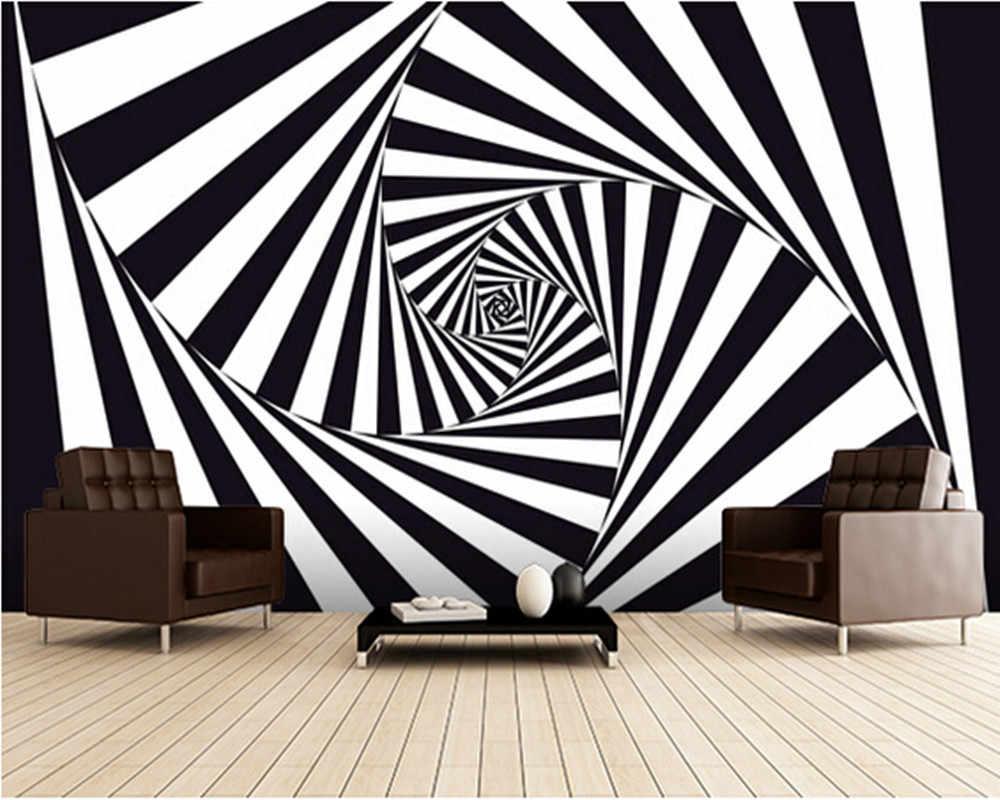 カスタム3dアート壁紙 光学アートスパイラル壁画の寝室居間台所ルーム壁防水塩ビ壁紙 Aliexpress