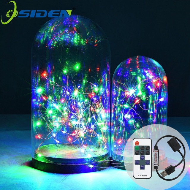 OSIDEN 5V USB LED String 33FT 10M 100LED 5M 50LED Copper Wire Fairy ...