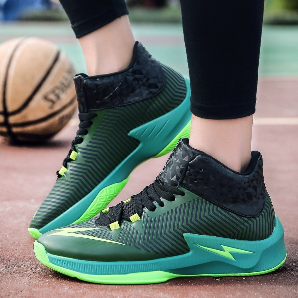 Shockproof Men Basketball Shoes Anti-skid Male Ankle Boots Outdoor Sneakers Wear Resistant Athletic Sport Shoes Free Shipping original li ning men professional basketball shoes