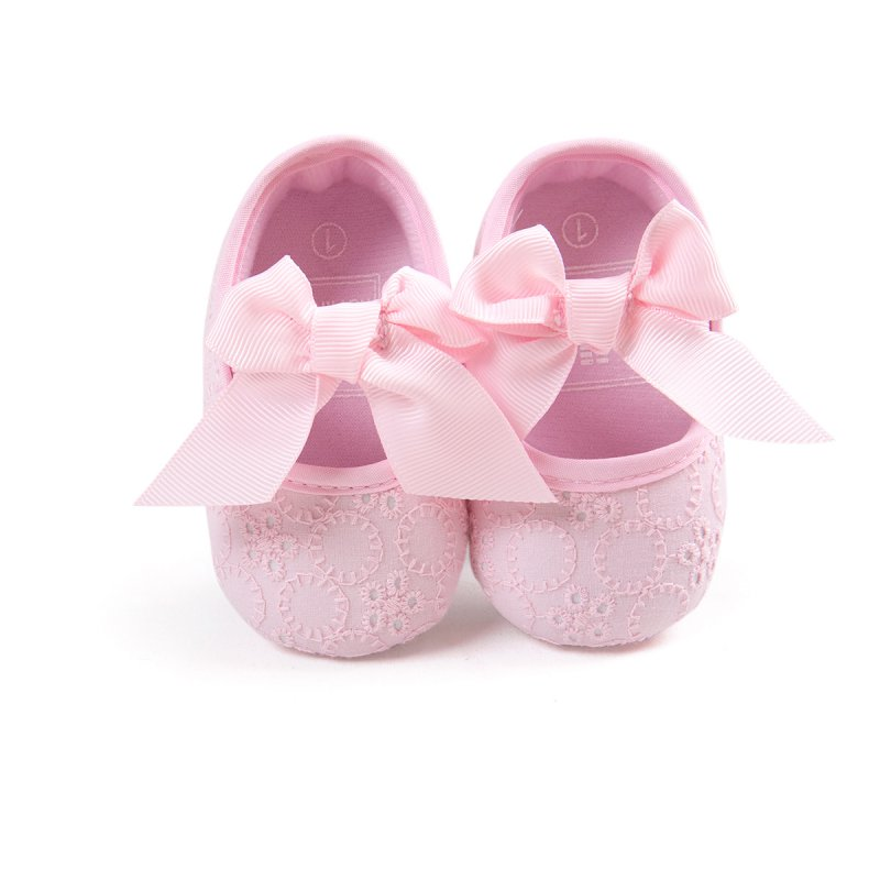 New Toddler Baby Shoes Non-Slip Bowknot Princess Shoes Infant Slip On Prewalkers 0-18M