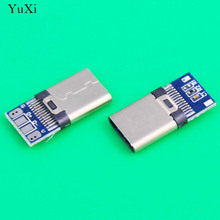 YuXi Micro USB Type-C male Connector For Mobile Phone Micro USB Jack Connector Charging Socket