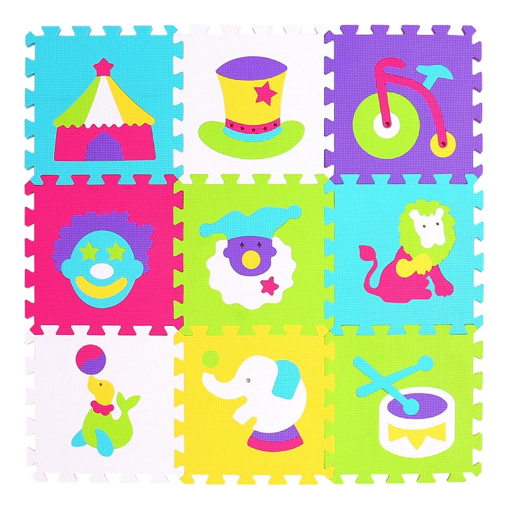 HTB1NbMYj2iSBuNkSnhJq6zDcpXa8 mei qi cool 9pcs/set baby play EVA foam puzzle mat /Cartoon EVA foam pad / Interlocking Mats for kids playmat