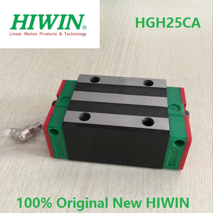 4pcs 100% original Hiwin HGH25CA linear narrow block match with HGR25 linear rail guide (only blocks) hiwin taiwan made 2pcs hgr25 l 600 mm linear guide rail with 4pcs hgh25ca or hgw25ca narrow sliding block cnc part