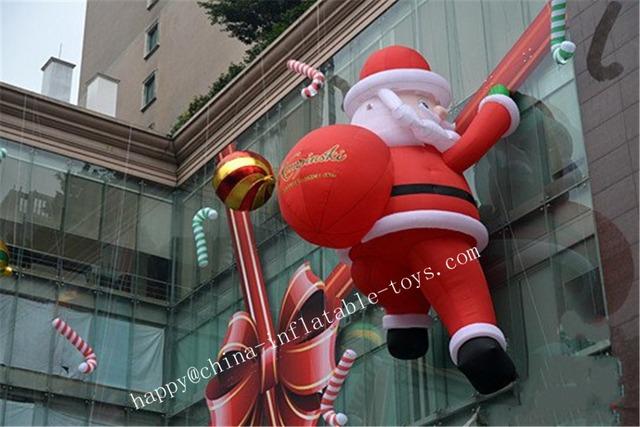 Inflable Gigante de Publicidad Personalizada de Dibujos Animados de Navidad inflable Papá Noel Para La Navidad Decoración Al Aire Libre