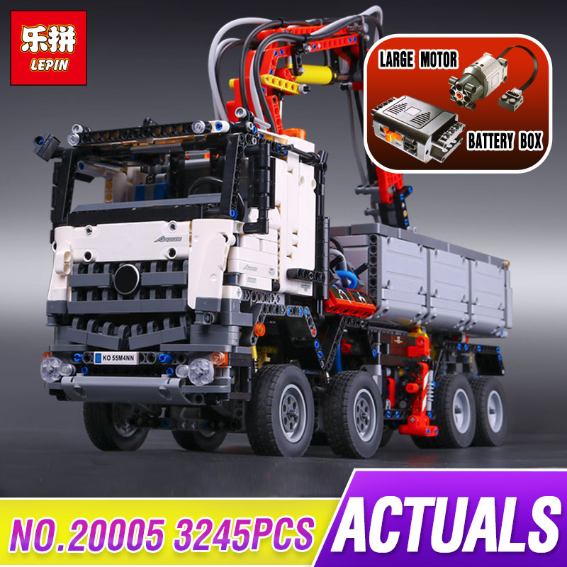 3245pcs LEPIN 20005 technic series Arocs Model Building blocks Bricks Compatible with Funny Toy for Children with legoed 42043 lepin 22001 pirate ship imperial warships model building block briks toys gift 1717pcs compatible legoed 10210
