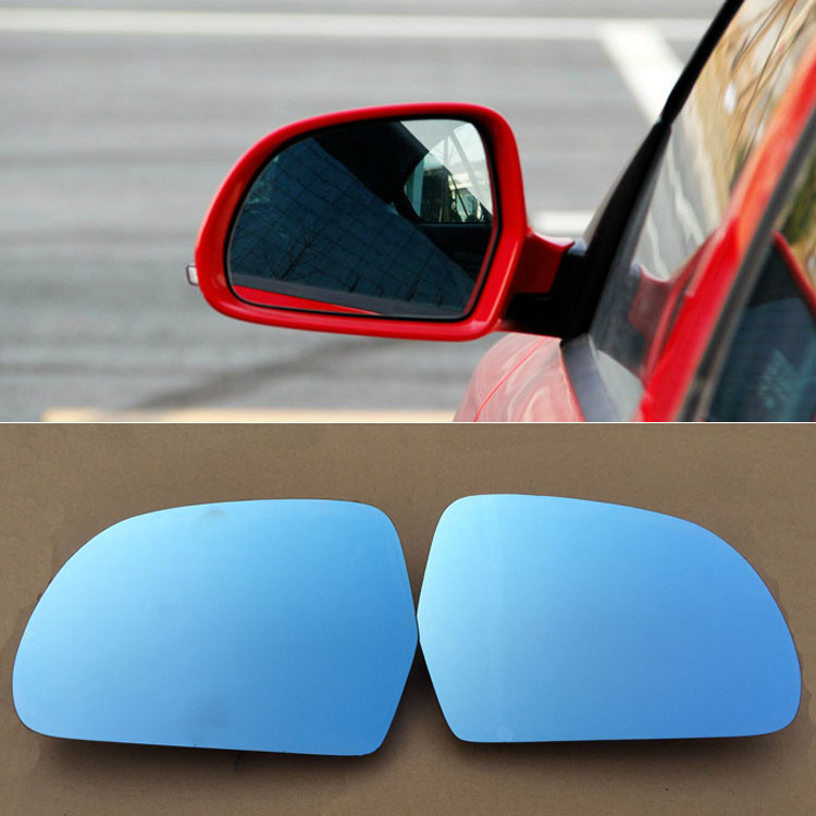 Ipoboo 2pcs New Power Heated w/Turn Signal Side View Mirror Blue Glasses For Skoda Octavia 2013-2014