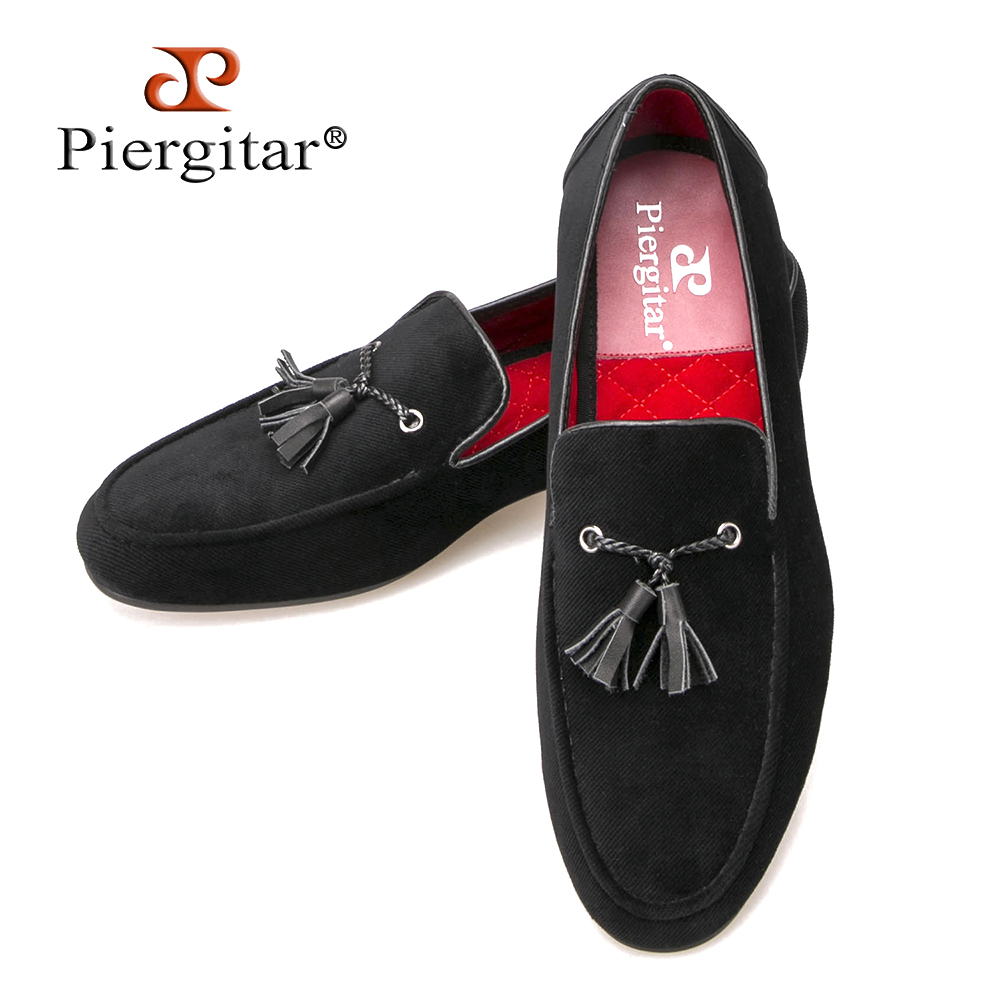 Cotton Men Shoes With Leather Tassels Men Loafers Men Wedding and Party Shoe Men Flats Size US 6-14 Free shipping men loafers paint and rivet design simple eye catching is your good choice in party time wedding and party shoes men flats