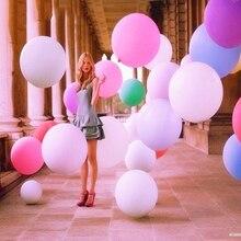 ФОТО 1pc manufacturers selling 25 grams of round 36 inch flat ball wedding balloon trade latex balloon blasting