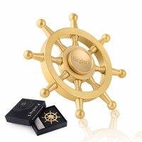 Portable Fidget Spinner Metal Cool Pirates Of The Caribbean Rudder Steering Wheel Hand Spinner Anti Stress
