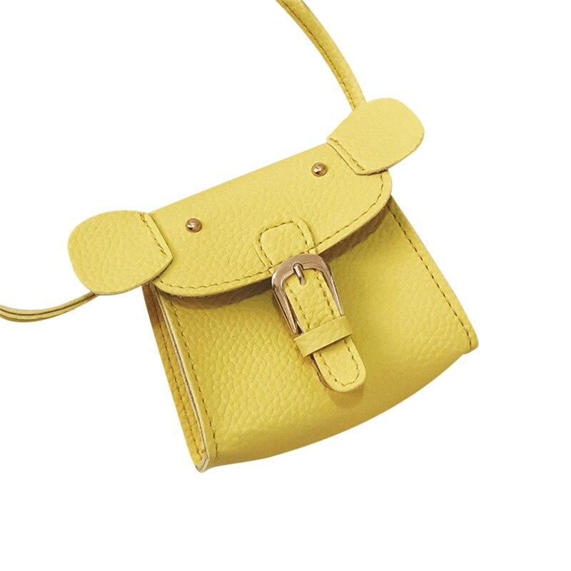Cute Child Kids Girls Little Elephant Animal Shape Mini Crossbody Bags Pu Leather Shoulder Bag Candy Coin Purse Handbags bolsas