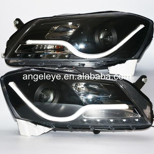 2011-2014 год для Volkswagen <font><b>Passat</b></font> Magotan <font><b>B7</b></font> светодиодные полосы фара черный Корпус SN