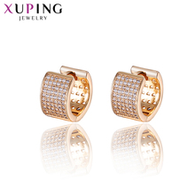 Xuping Fashion Jewelry Elegant Rose Gold-color Plated Earrings with Synthetic CZ for Women Valentines Gifts S86-20134