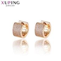Xuping Mode-sieraden Elegante Rose Gold-plated Oorbellen met Synthetische CZ voor vrouwen Valentijn Cadeaus S86-20134