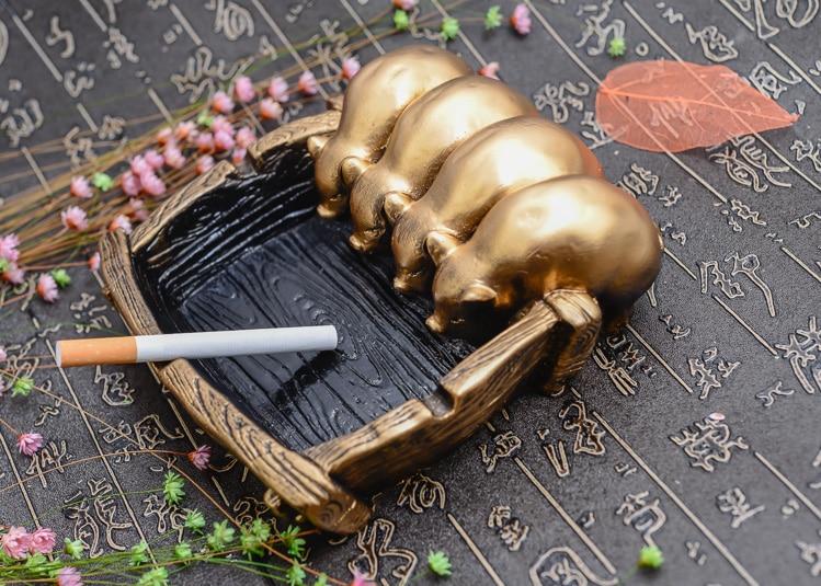 Grand cendrier personnalité créative belle chinois rétro ornements copain bar ameublement cadeau - 5