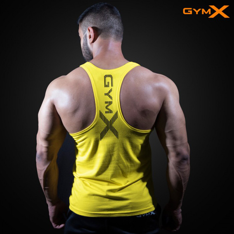 New Mens Sleeveless   Tank     Tops   Summer Print Cotton Male   Tank     Tops   gyms Clothing Bodybuilding Undershirt Golds Fitness   tank     top