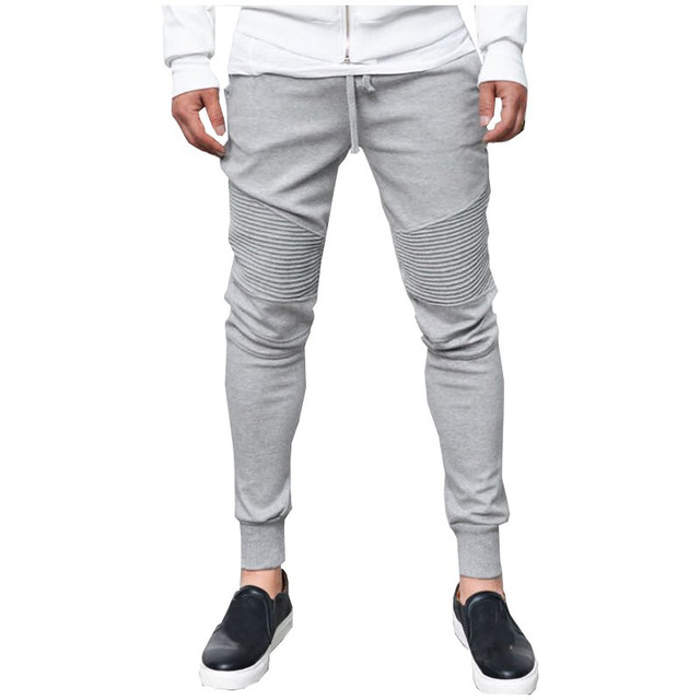 2016 NEW Mens Jogger Pants Workout Bodybuilding Clothing Casual Sweatpants Joggers Pants Skinny Trousers Hip Hop Tight Long Pant
