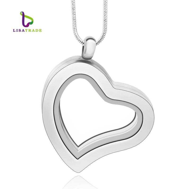 5PCS !! Medallón de encanto flotante de cristal magnético de plata de 30 mm Corazón aleación de zinc (cadenas incluidas gratis) LSFL04-1 * 5