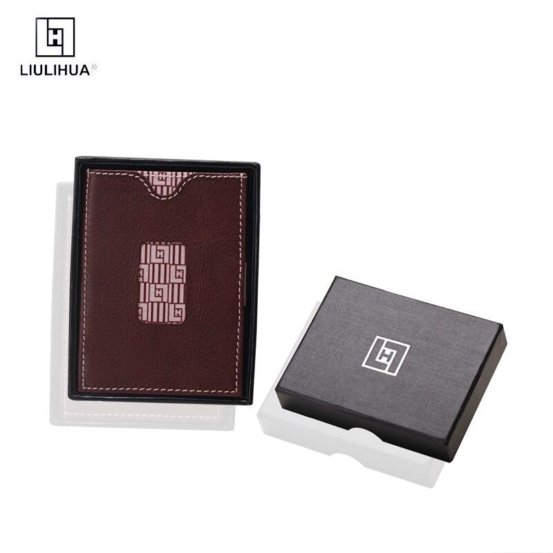 LLH date portefeuille de luxe véritable mince en cuir de vachette hommes portefeuille avec mouvement portefeuille porte-cartes homme pochette portefeuille argent poche