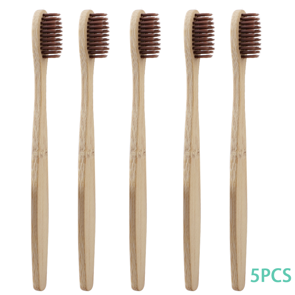 4 Colors Portable 5pcs/set Bamboo Toothbrush Soft Bristle Dental Oral Care Travel Environmentally Useful Tooth Brush