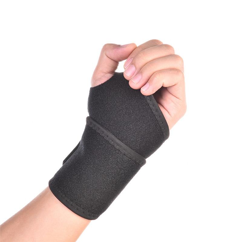Black Adjustable Wristband Wrist Support Weight Lifting Training Wrist Guard Brace Straps Wraps Powerlifting Bodybuilding