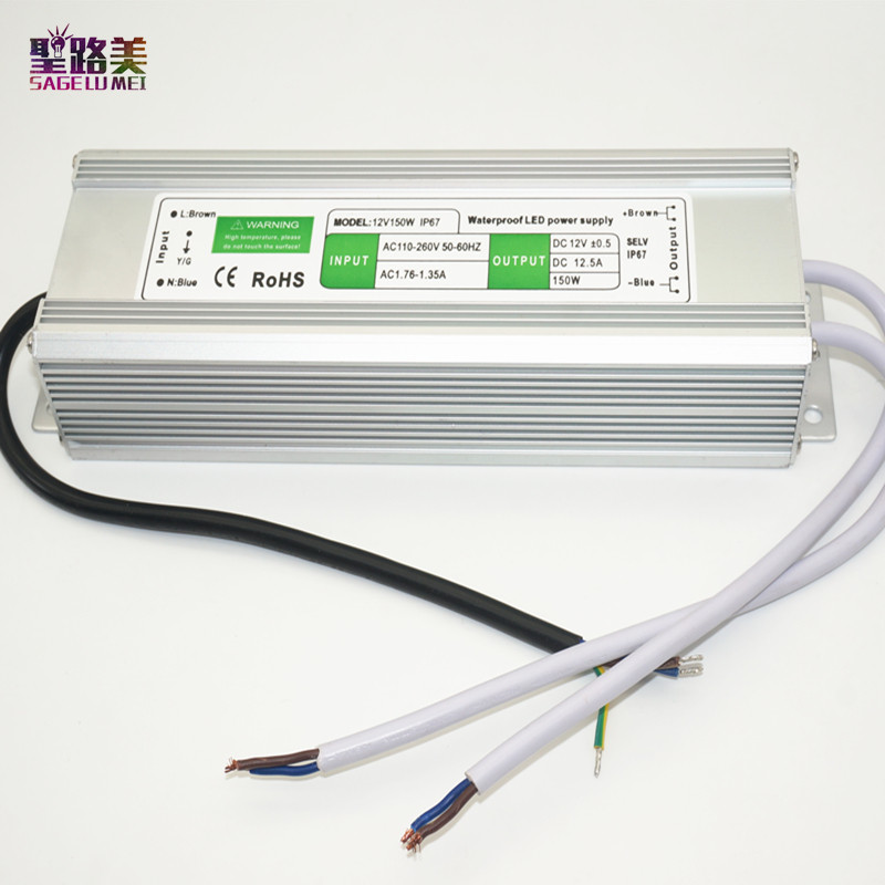 best price 1 pcs 12V 150W Waterproof Electronic LED Driver Power Supply Transformer 110V-260V 12v 12.5a IP67 outdoor power diy kits p10 outdoor single yellow led panel 4 pcs 1 pcs led controller 1 pcs jn power supply led display screen all cables