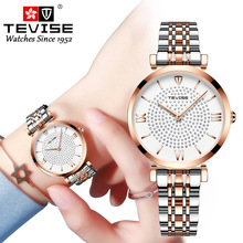 New TEVISE Women Luxury Brand Watch Simp
