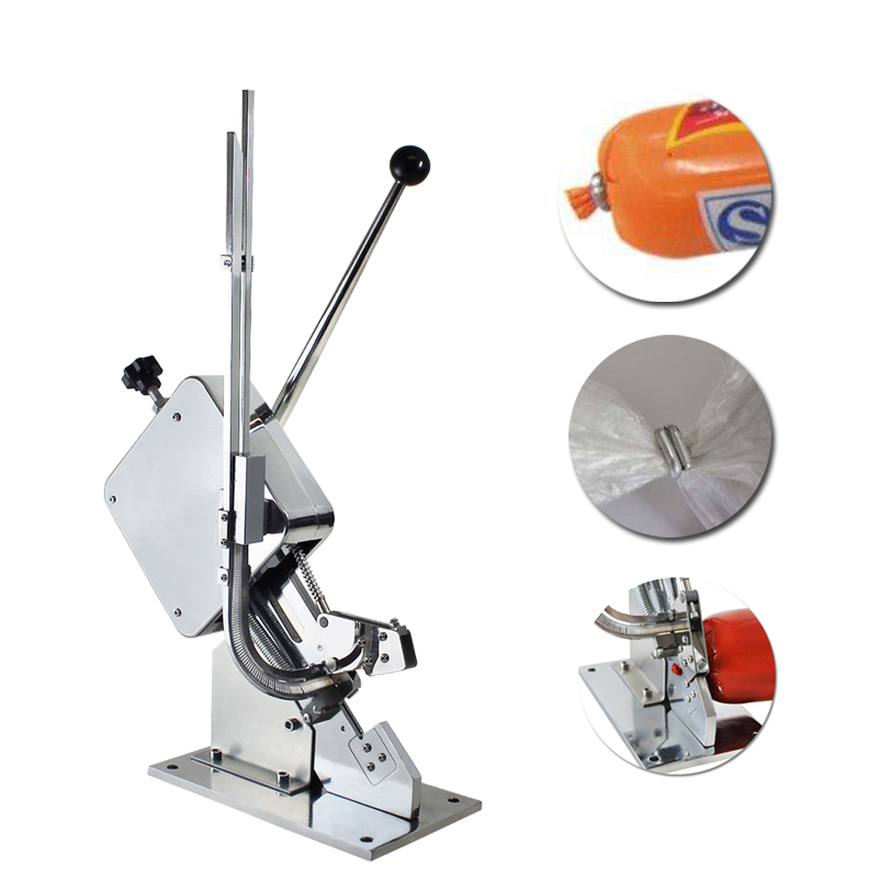 Manual U-shape Sausage Clipper Clipping Machine Maker Supermarket Tightening Machine No leakage of air and water sausage making equipment u shape sausage clipping machine manual sausage clipper machine price