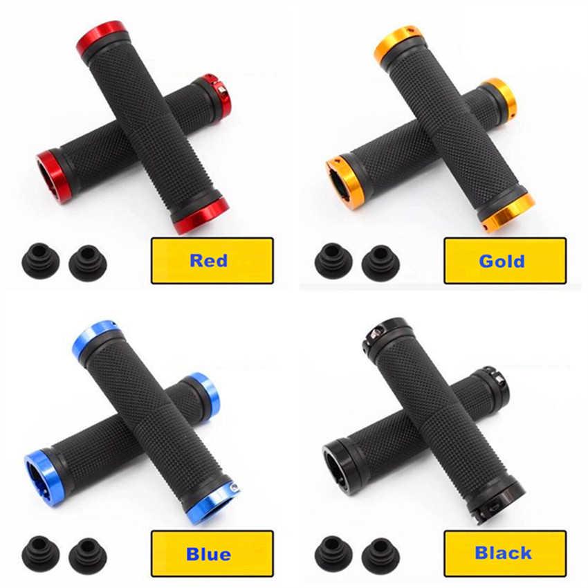 Противоскользящие MTB ручки для велосипедного руля Велоспорт горный велосипед руль блокировка резиновый чехол для рукоятки руля велосипеда 5 цветов Аксессуары для велосипеда
