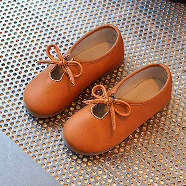 Bow Tie Baby Girls Casual Shoes Slip on Toddler Moccasins European Style Children's Flats 2017 Spring Kids Loafers Zapatos Ninas