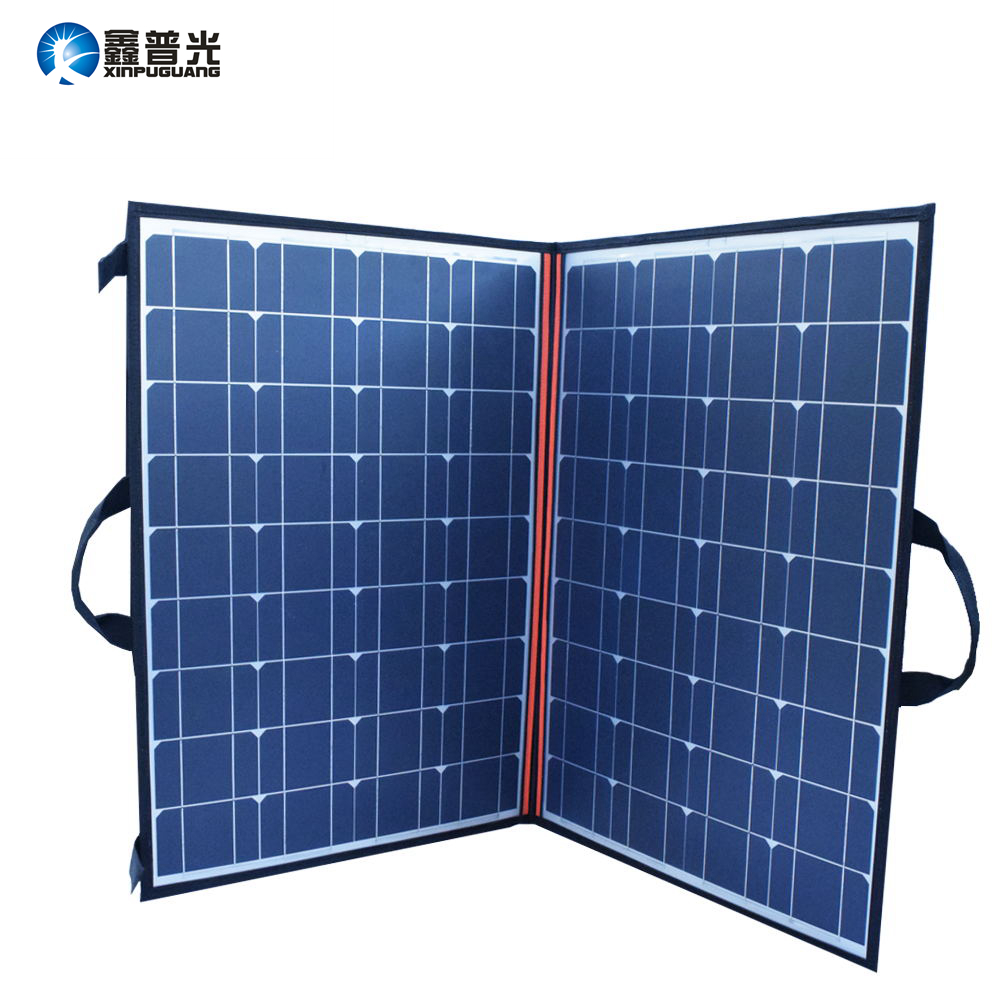 110W 18V placa Solar Panel Charger 2 Folds 100W Folding Portable Bag cargador solar for Battery Power Bank Outdoor Blanket new solar panel 30000mah diy waterproof power bank 2 usb solar charger case external battery charger accessories