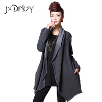 JXDINOY Women Spring Autumn causal 2017 pocket fashion Loose Full Sleeve Open Stitich New Fashion Solid Female Overcoat JS001