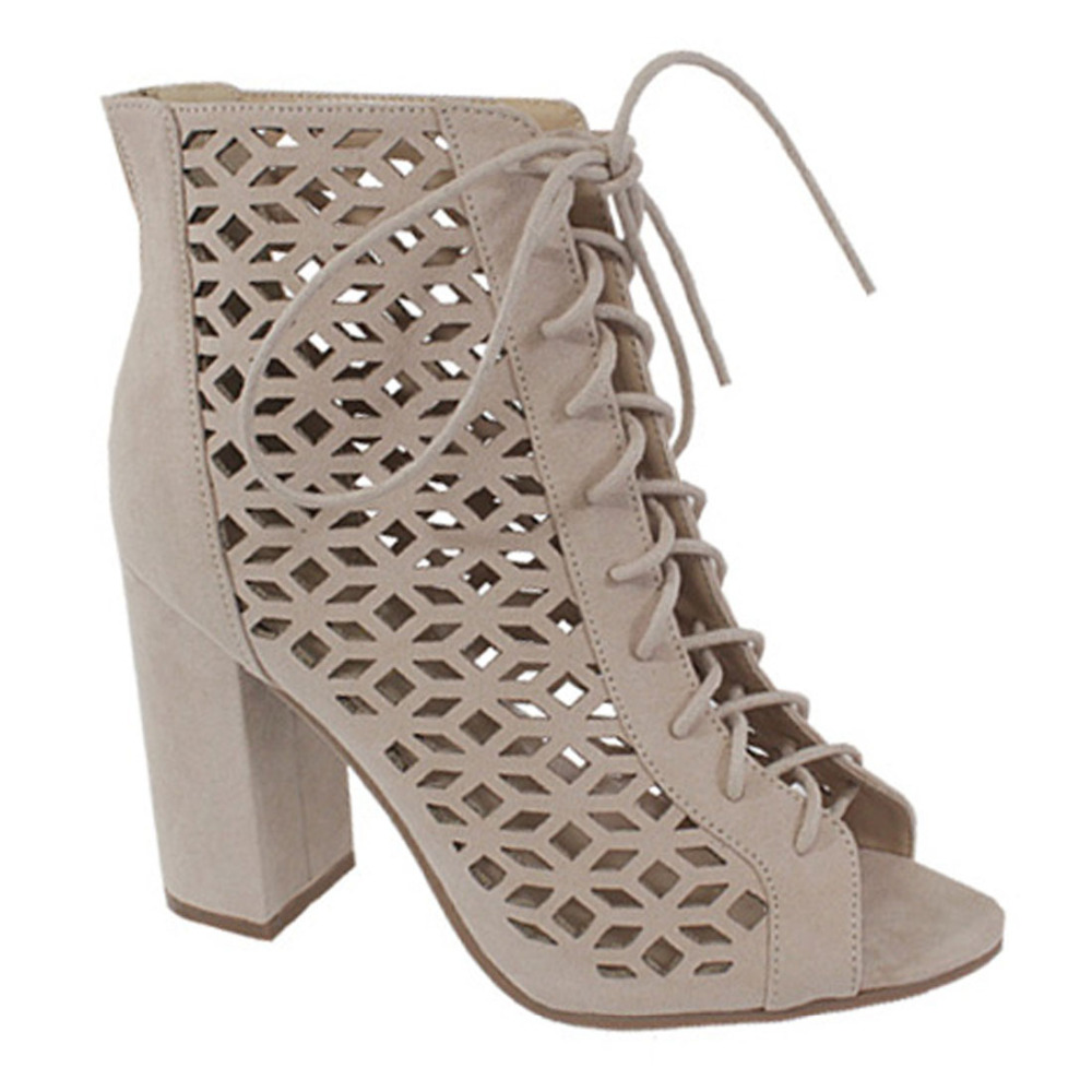 Womens sandals that zip up the back - Eg01 Women S Caged Cut Out Lace Up Back Zipper Block Heel Dress Heels China