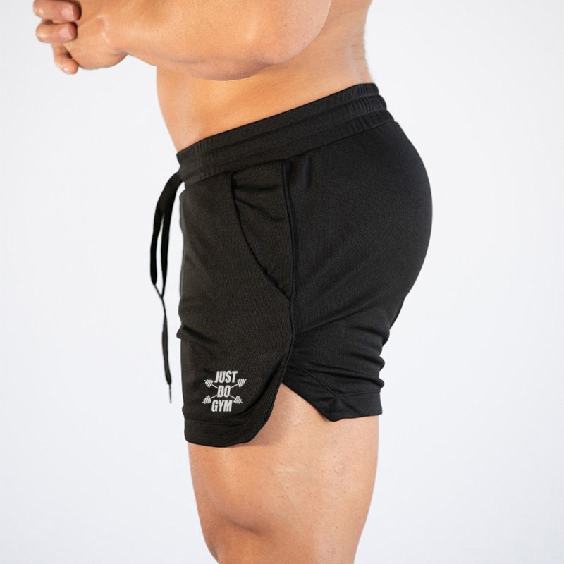Short Pants Training Bodybuilding Quick-Dry Gyms New-Style Mens Summer Mesh Man Slim-Fit