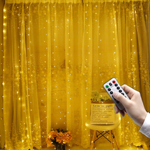 3m*2m USB Led Copper Wire Curtain Fairy String Light Christmas Silver Curtain Light Outdoor Home Garden Party Decoration цена 2017