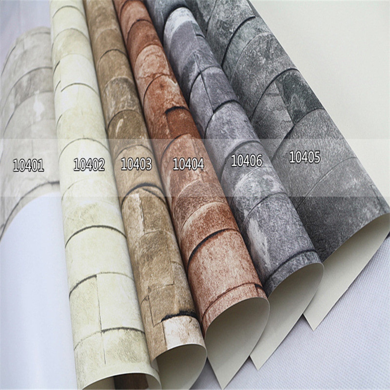 Rustic Vintage Mural 3D Faux Brick Wallpaper Roll Wallpaper for Walls 3D Old Stone Cafe Wall Covering Living Room Home Decor old mural art