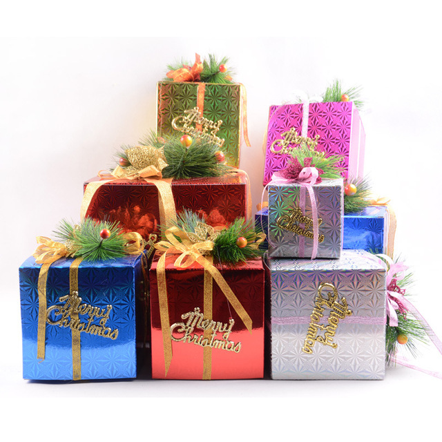 Christmas Gift Box Decorations Glamorous Christmas Decorations Supplies Gift Boxes Ornaments New Year Items Inspiration