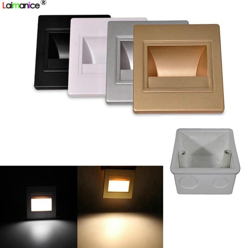 10pcs lot 95 type Recessed Led Stair Light Sconce Lamps Arandela Modern 85 265v 1 5W