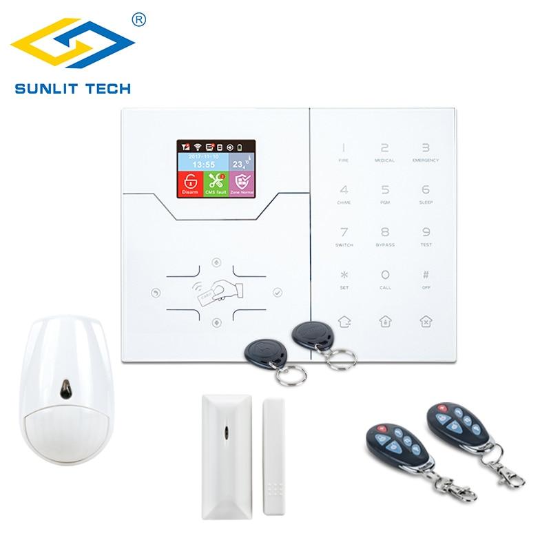 Focus Wifi/GSM Alarm System for Home Smart Security Alarm Wireless PIR Motion Sensor Door Window Detector Protection Burglar