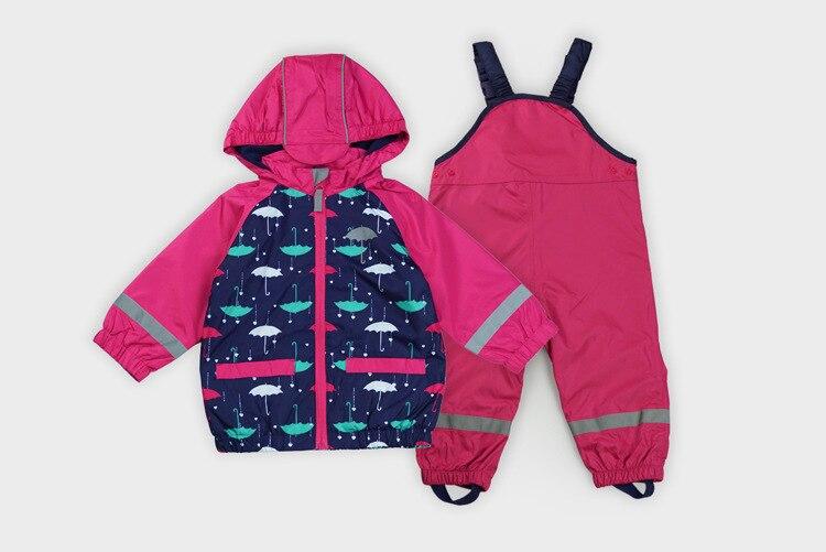 2017 new spring and autumn children cute outdoor suit windproof waterproof outdoor jackets coat + pants 2017 new children and adolescents autumn