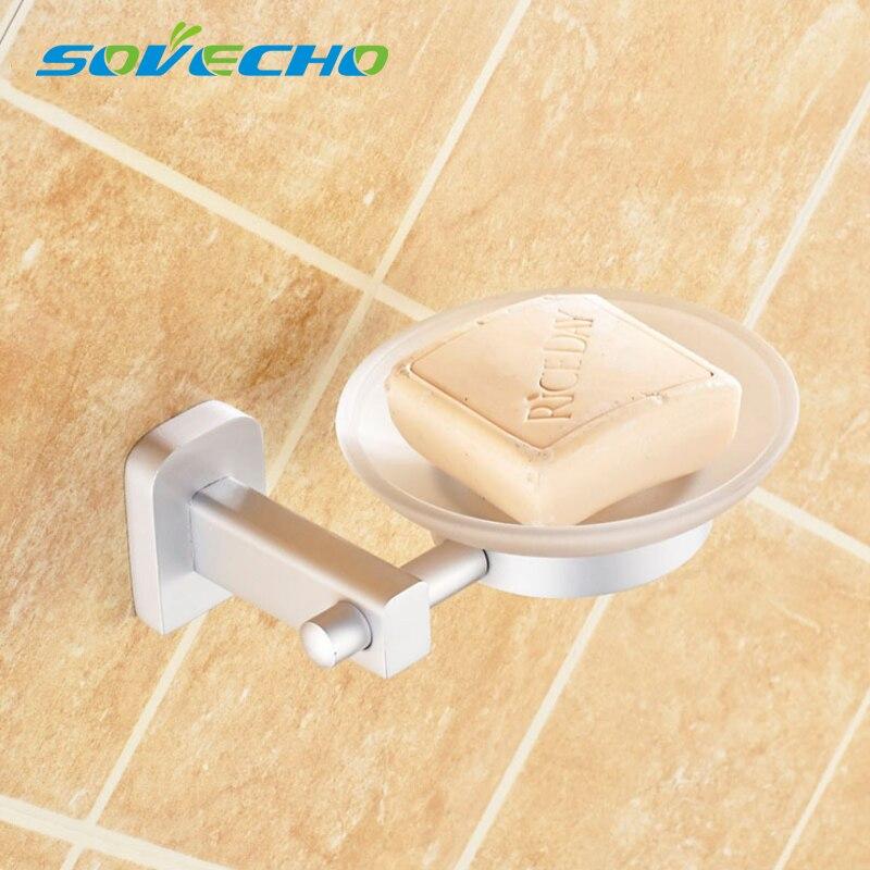 Polished Chrome Wall Mounted Bathroom Soap Dish Storage Holder Basket Zba909