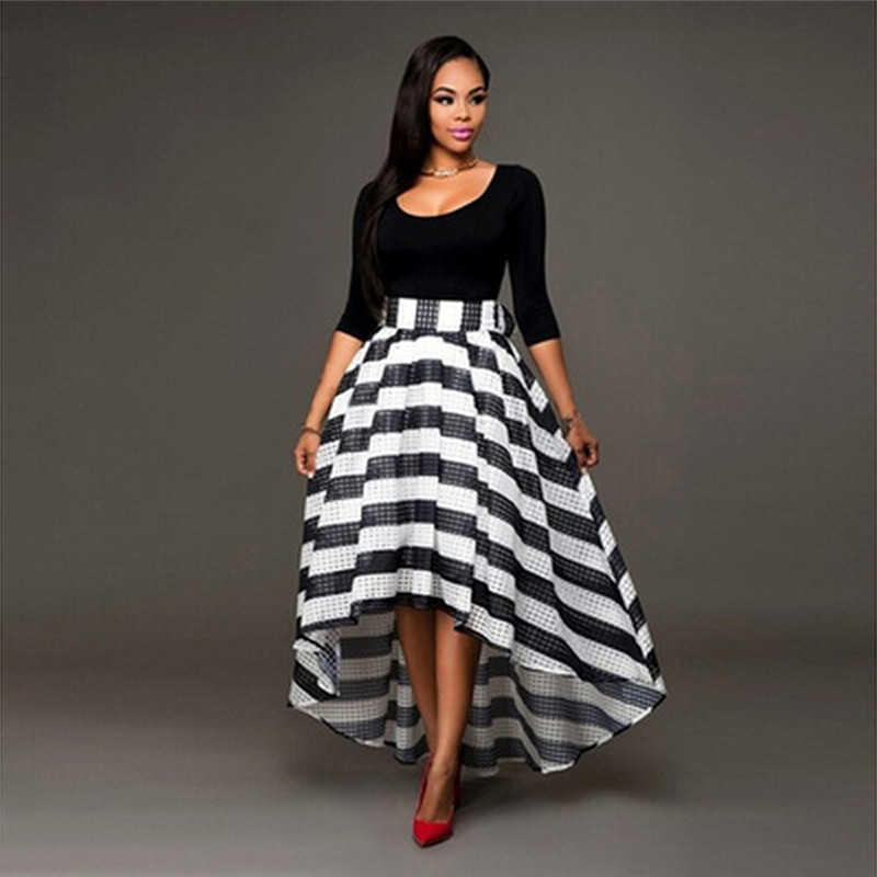Fashion Party Queen Cocktail Striped Dress Women Long Maxi Formal Prom Gown Dress Graceful Women Dress Vestidos