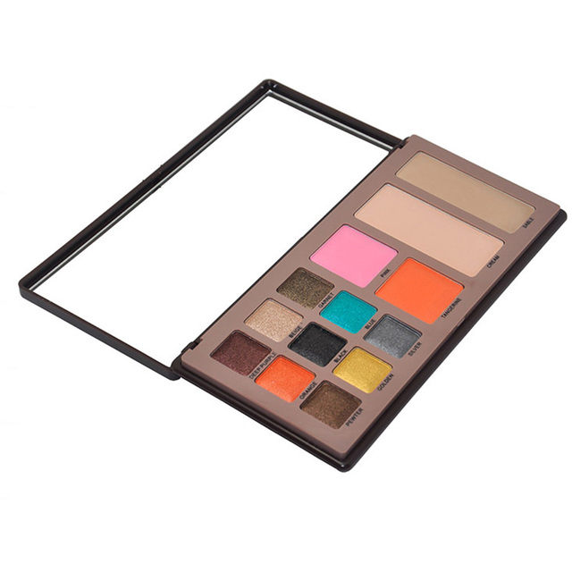 13 Color Brand Makeup Eyeshadow Blush Palette Set Mineral Glitter Shimmer Eyeshadow Face Powder Make Up Kit
